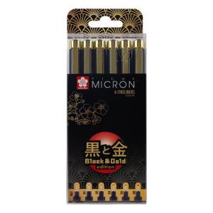 Feutre Pigma Pigma Black & Gold Edition Set de 6