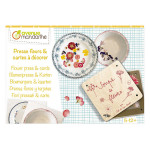 Presse-fleurs et cartes postales à décorer