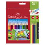 Pack crayon de couleur triangulaire 18 + 4 + 2